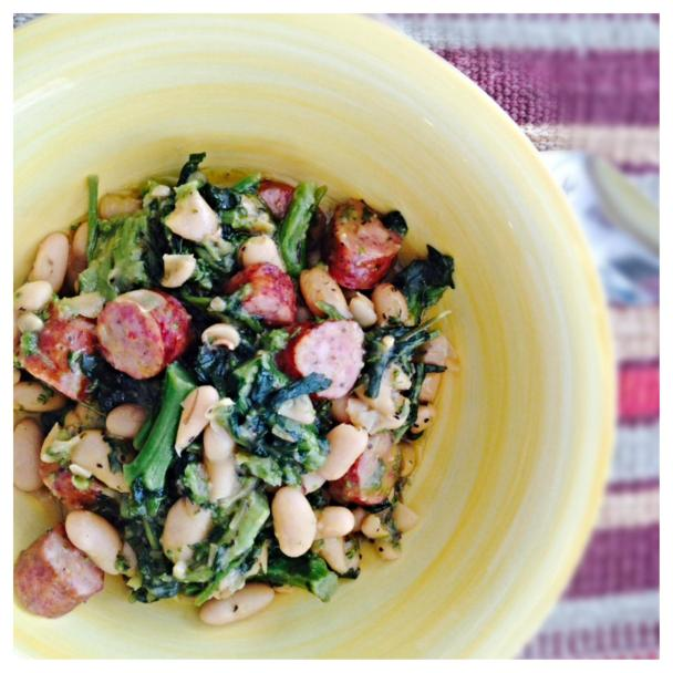 , and Sausage – Braised Rosemary White Beans with Broccoli Rabe ...